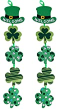 Moon Boat 2Ct St Patrick's Day Decorations - Party Sign Shamrock Clover Hanging Garland Supplies