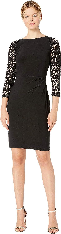Lauren Ralph Lauren Women's Jersey Lace-Sleeve Dress