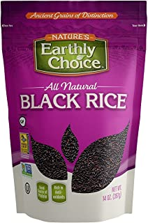 Nature's Earthly Choice All Natural Black Rice 14 Ounce (Pack of 2)