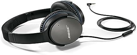 Bose QuietComfort 25auriculares (Alámbrico,) (reacondicionado certificado) Dispositivos Android y Samsung 100 Negro