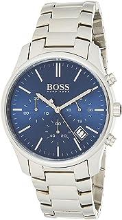 ساعة للرجال بمينا باللون الازرق وسوار من الستانلس ستيل من هوجو بوس- 1513434