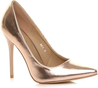 Ajvani Women's High Heel Pointed Court Shoes Pumps Size