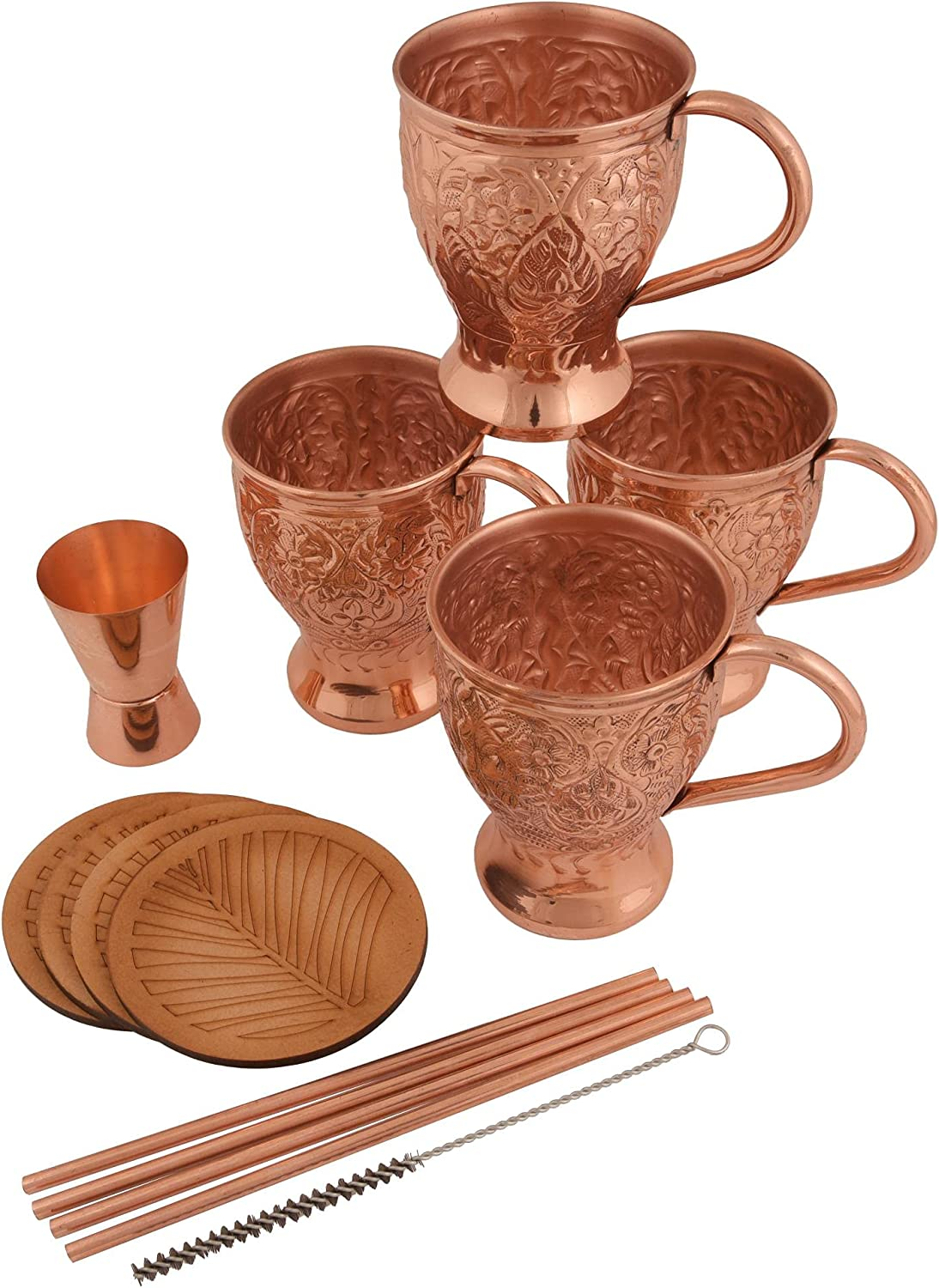 100% Moscow Mule Copper Mugs - Set 4 Ha Max 59% Inventory cleanup selling sale OFF of Pure Handmade Solid
