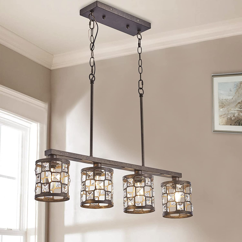 4-Light Kitchen Light Fixtures Farmhouse Oil with Chandelier Ru Limited time Outlet SALE sale