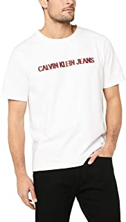 CALVIN KLEIN Jeans Men's Institutional Embroidery Logo T-Shirt