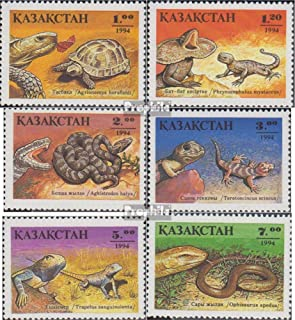 kazakhstan 51-56 (complete.issue.) 1994 Reptiles (Stamps for collectors) Amphibians / reptiles / dinosaurs