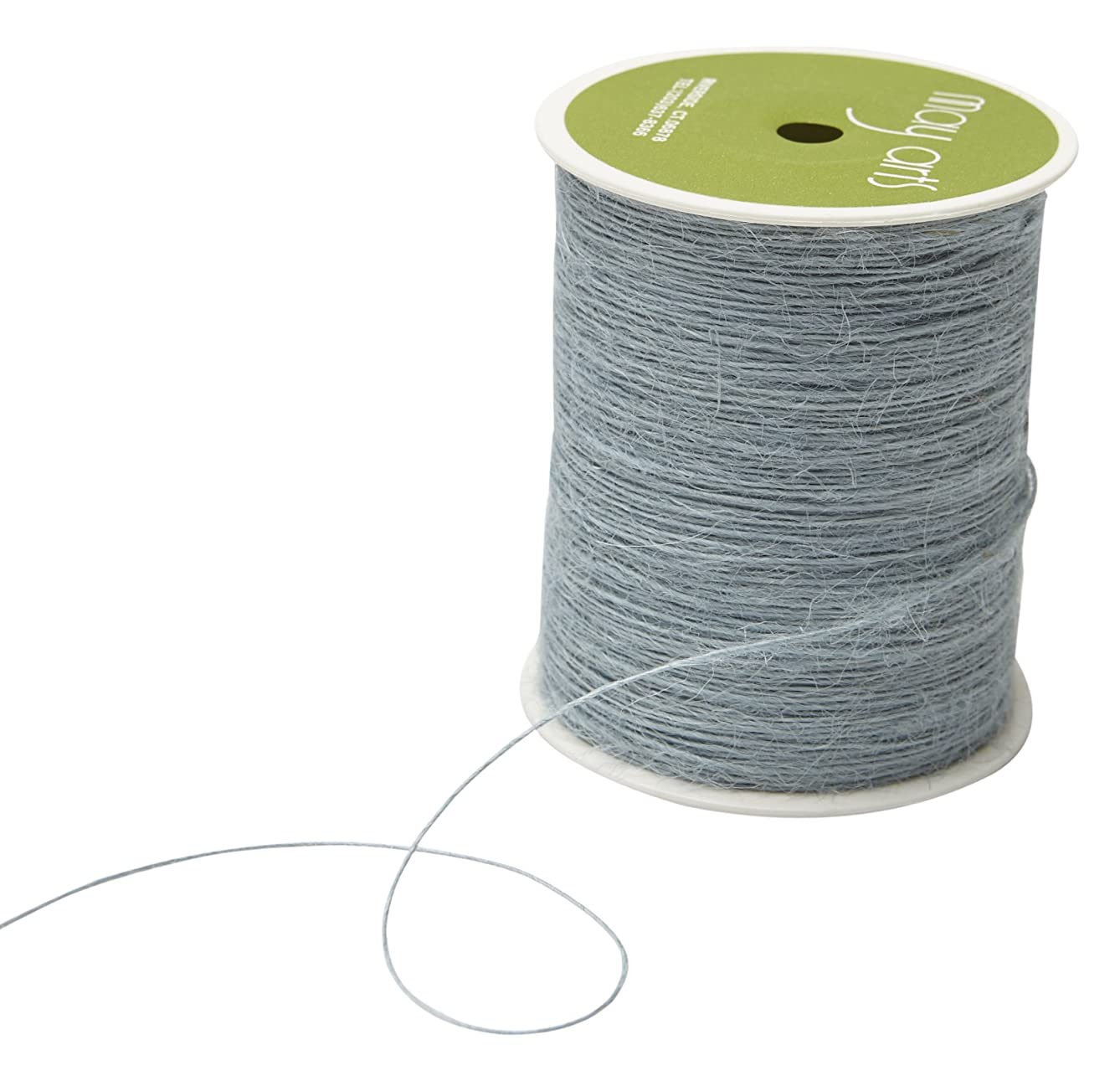 May Arts String Burlap Ribbon, 400 yd, Light Blue
