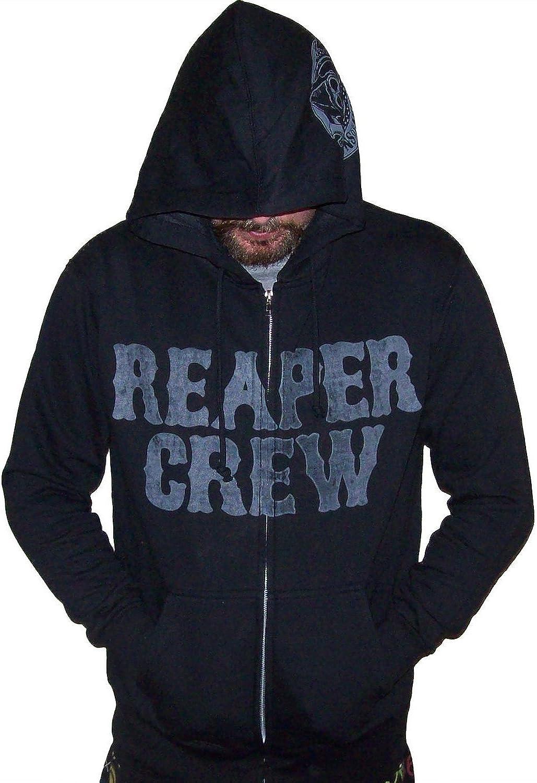 Guiping Sons of Anarchy Reaper Crew Teen Hooded Sweate Sweatshirt Black