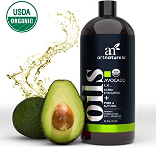 ArtNaturals USDA Organic Avocado Oil - (16 Fl Oz / 473ml) - Massage Oil & Moisturizer – 100% Pure Expeller Pressed, Hexane...