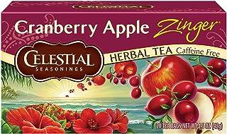 Celestial Seasonings Herbal Tea, Cranberry Apple Zinger, 20 Count (Pack of 6)