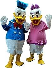 Sinoocean Donald Duck and Daisy Duck Adult Mascot Costume Cosplay Fancy Dress Suit