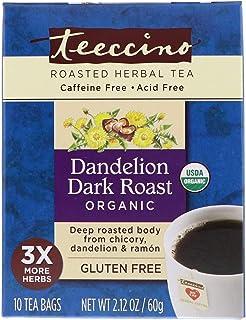Teeccino Dandelion Dark Roast Organic Herbal Coffee, 10 Count