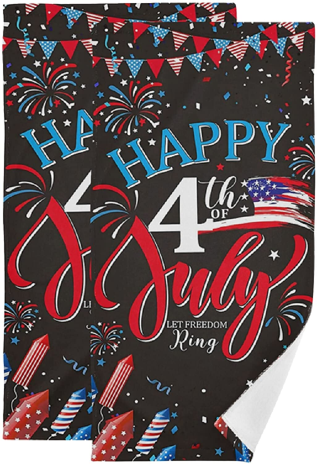 Year-end gift July 4th Dallas Mall Face Towel Set of America Black Bless God Hand 2
