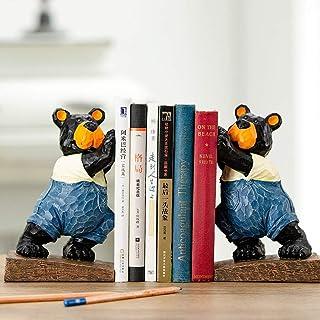 XBR Antisladd bokstöd bokorganiserare söt harts bokstöd för barn skola bibliotek skrivbord studie hem kontor dekoration gå...