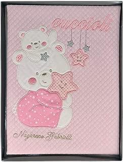 Disney Coordinato Lettino Baby Minnie neonata Set 3 Pezzi Cotone Stampato 1232 Bianco-Rosa