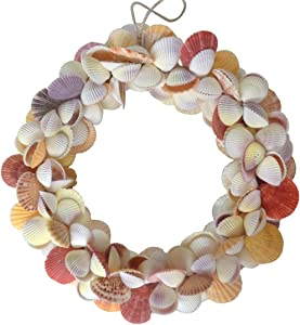 WS Stetson Colorful Mixed Real Shell Wreath 15 inches EG-11