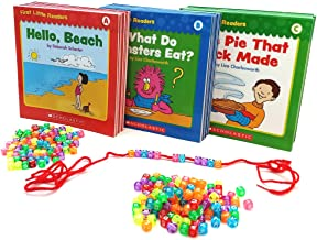 Learn to Read Set: 60 Beginning Reading Books for Kids, Preschool Kindergarten & First Grade with Bookmark. Leveled Readers - 3 Guided Reading Levels A,B,C.