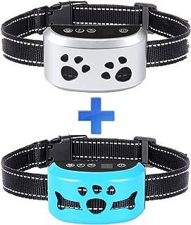 Bark Collar Barking Control Training Collar with Beep Vibration and No Harm Shock 7 Adjustable Sensitivity Controlfor Small Medium Large Dog