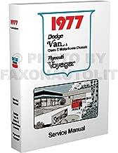 1977 Dodge & Plymouth Van Repair Shop Manual Reprint Sportsman Tradesman Voyager