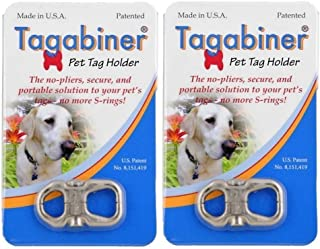 Tagabiner The New Pet Tag Holder, Secure and Portable Solution to Your Pet's Tags