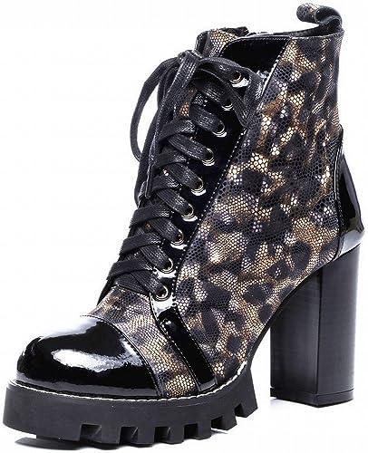 VSR Style Occidental Martin Bottes Mode Imperméable épais Chaussures Sexy épais avec de Grandes Chaussures