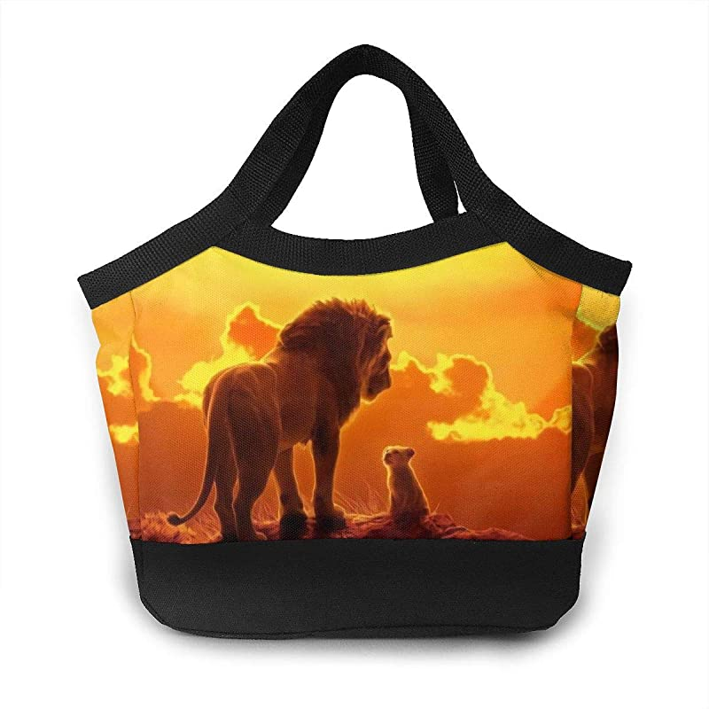 The Lion And His Son Lunch Bag Insulated Cooler Durable Box Container Tote Bag Bento For Women Kids Men At Work School Picnic