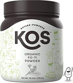 KOS Organic Fo-Ti Powder - Immunity Strengthening Fo-Ti Root (He Shou Wu) Powder - USDA Organic, Supports Healthy Hair, Skin & Nails, Increases Endurance, Plant Based Ingredient, 373.5 g, 83 Servings