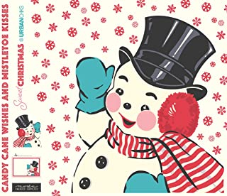 Sweet Christmas Snowman Applique Digital Panel by Urban Chiks