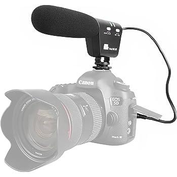 Sutefoto Micrófono para Entrevistas, Cámara Micrófono Escopeta ...