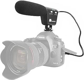 Sutefoto Micrófono para Entrevistas Cámara Micrófono Escopeta Micrófono Video Mic con Montura Antichoque Compatible para Canon Nikon DSLR Cámara DV Videocámara (necesita interfaz de 3.5 mm)