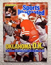 Darrell Reed sacks Steve Taylor - The Oklahoma Sooners defeat the Nebraska Cornhuskers in the Game of the Century II - Sports Illustrated - November 30, 1987 - College Football - No Address Label!