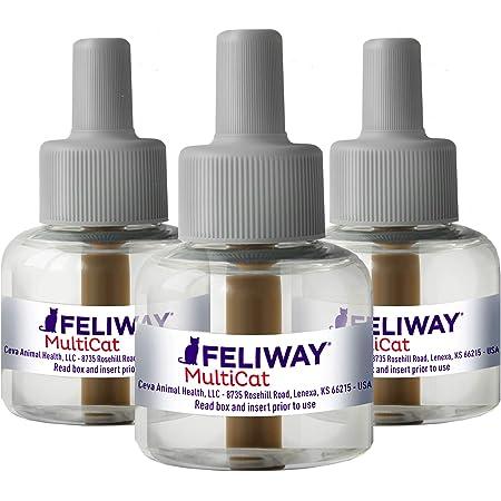 FELIWAY CEVA Animal Health Multicat Feliway Refill (3 Pack), Basic (D89410B-3)