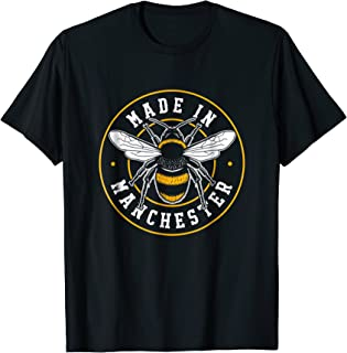 Made In Manchester T-Shirt Worker Bee MCR Fashion Badge
