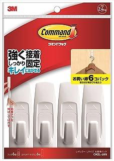 3M コマンド フック キレイにはがせる 両面テープ Lサイズ 耐荷重2.4kg 6個 CM2L-6HN