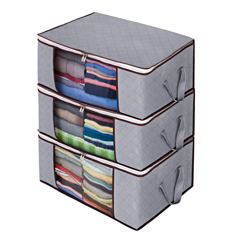 Awekris Foldable Organizer Blankets Bedrooms