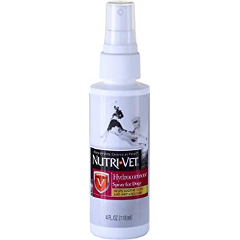 Nutri-Vet Wellness Advanced Hydrocortisone Spray with Aloe Vera for Pets, 4-Ounce