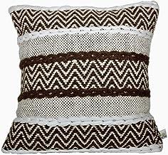 satTva Cushions Cover 45x45- ℍ𝔸ℕ𝔻𝕄𝔸𝔻𝔼 𝐓𝐞𝐱𝐭𝐮𝐫𝐞𝐝 Throw Pillow Cover for Sofa - Decorative Throw Cushion Covers18