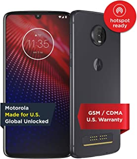 Moto Z4 – Unlocked – 128 GB – Flash Gray (US Warranty) - Verizon, AT&T, T-Mobile, Sprint, Boost, Cricket, Metro - PAF60007US
