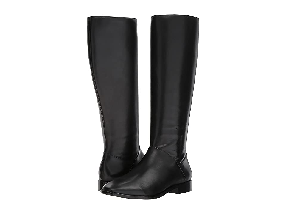 Donna Karan Lee Knee-High Boot (Black Smooth Oil Calf) Women