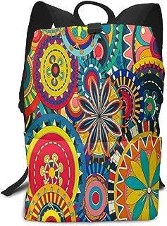 Backpack Hipster Sunflower Art Zipper Bookbag Daypack Hiking Rucksack Gym Bags For Man Women