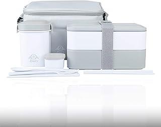 DWIS Lunch Box, Bento Box Sans BPA, Bento Japonais Avec Lunch Bag Isotherme   Boite Bento 2 Compartiments de Marque França...