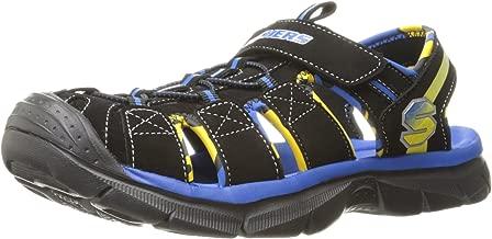 Skechers Kids Relix 92187N Lightweight Sandal (Toddler),Black/Royal,