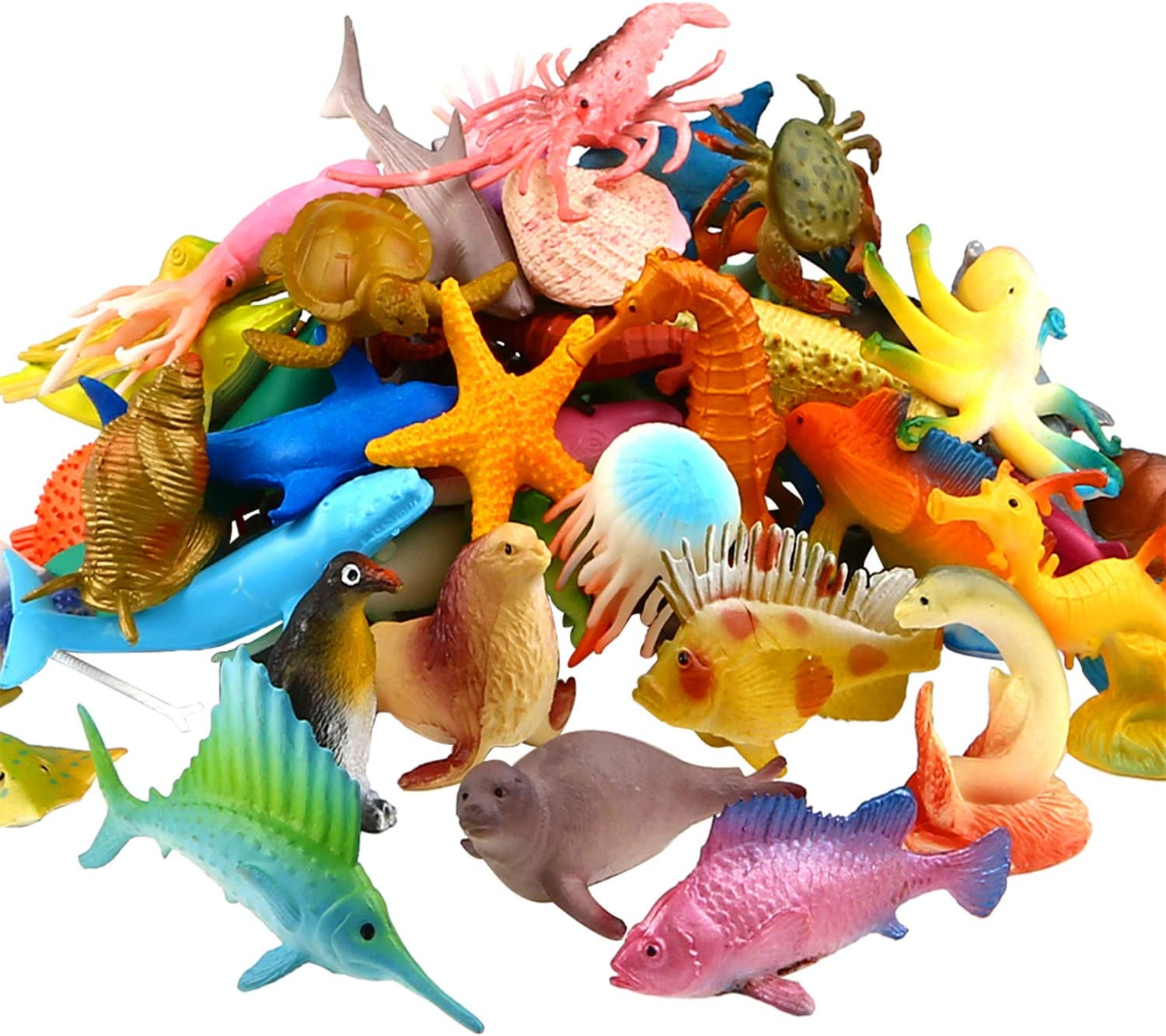 Ocean Sea Animal 52 Pack Assorted Free shipping on posting reviews Vinyl Save money Toy Mini Plastic