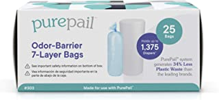 PurePail Refill Bags, Use With PurePail Diaper Pail (Sold Separately), 25 Bags (303)