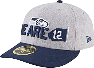 New Era Seattle Seahawks Iridescent Silver Navy Fitted Baseball Hat Flat Bill 59Fifty NFL Cap