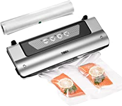 Vacuum Sealer, TIBEK 4 IN 1 Automatic Food Saver with Cutter, 5s Fast Dry| Wet Food Preservation, Perfect for Sous Vide, Staying up to 8X Longer Fresh, with Starter Kit Rolls