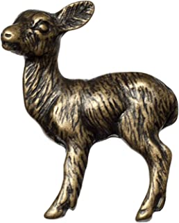 Big Sky Hardware Sierra Lifestyles Baby Deer Knob, Antique Brass