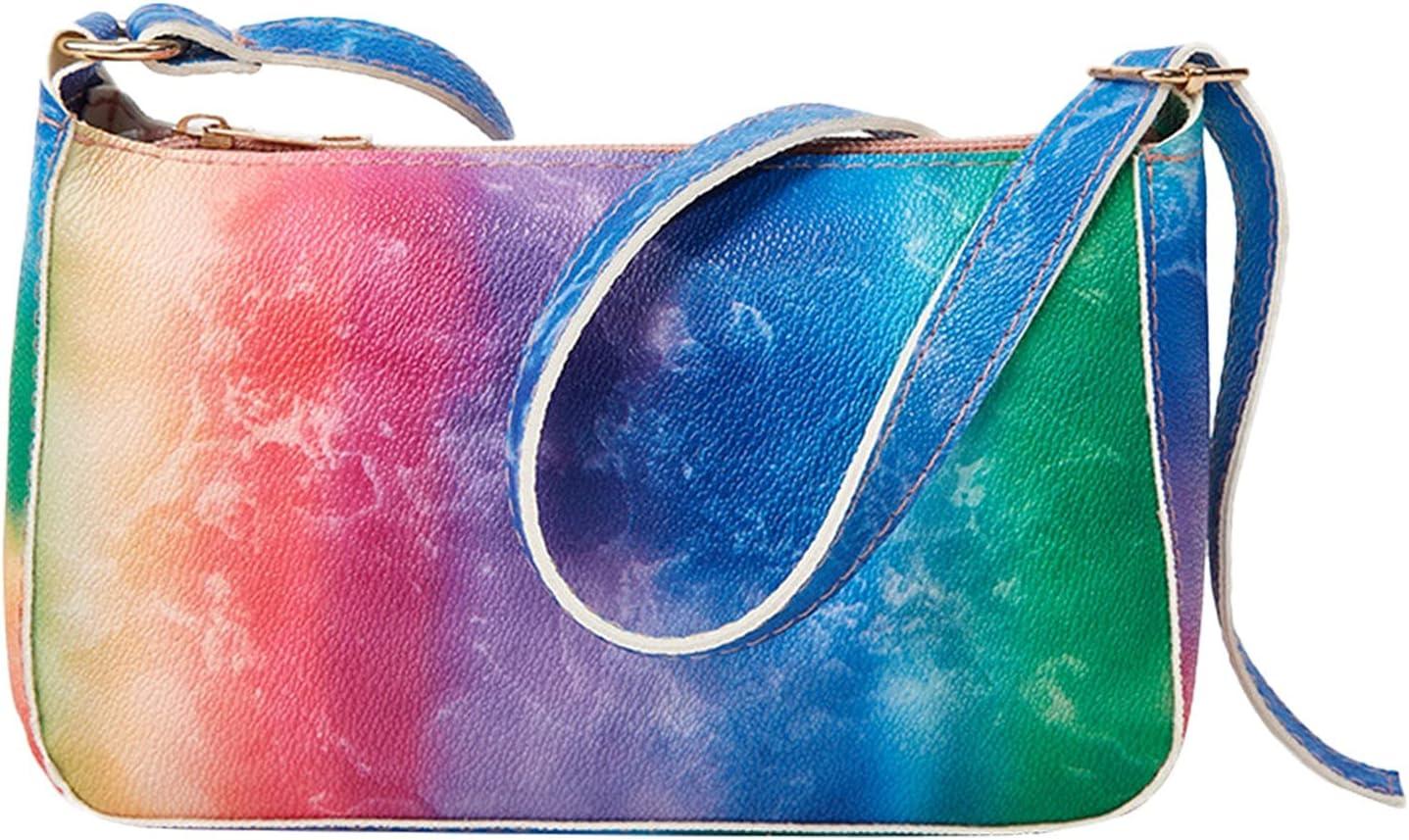 Women Rainbow Glitter Clutch Purse Crossbody Chain Wallet Bag for Wedding Evening Party Handbag
