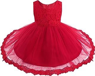 7604a041c6deb iiniim Bébé Fille Lace Robe de Mariage Soirée Dentelle Tulle Robe de  Princesse Baptême Robe sans