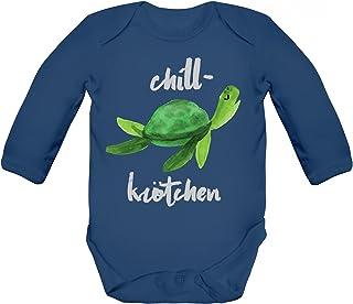 ShirtStreet Turtle Schildkröte Strampler Bio Baumwoll Baby Body langarm Jungen Mädchen Chillkrötchen 2